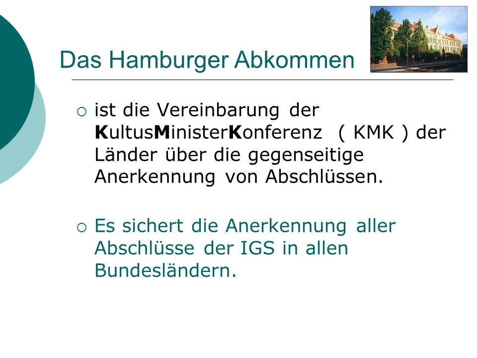 Das Hamburger Abkommen