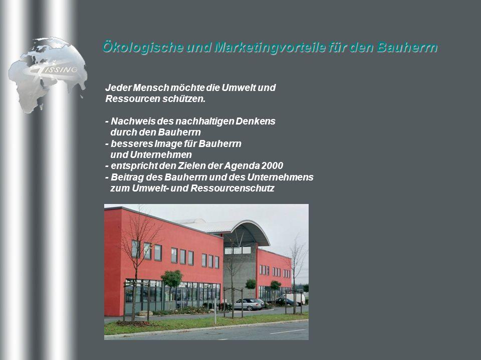 Ökologische und Marketingvorteile für den Bauherrn