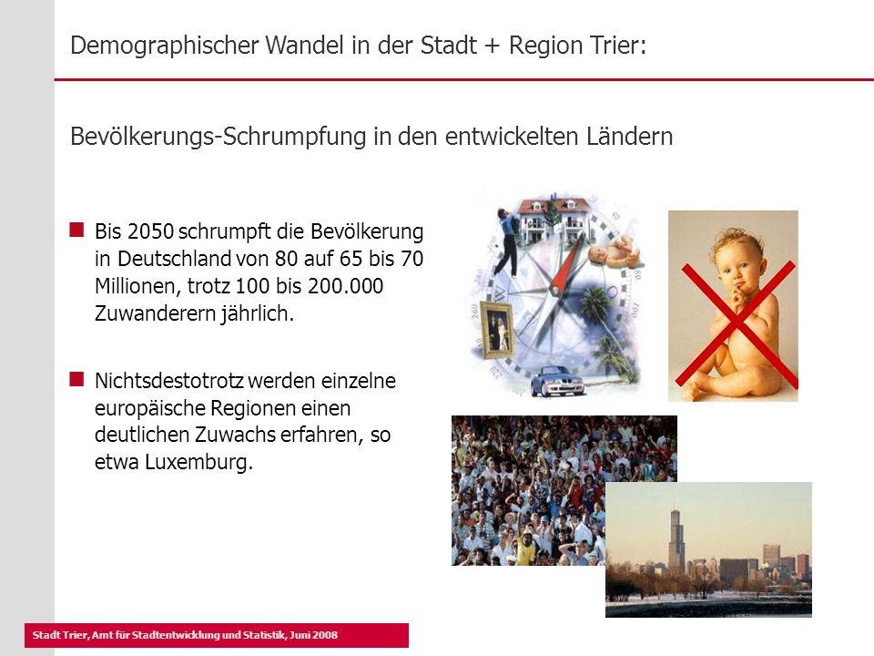 Bevölkerungs-Schrumpfung in den entwickelten Ländern