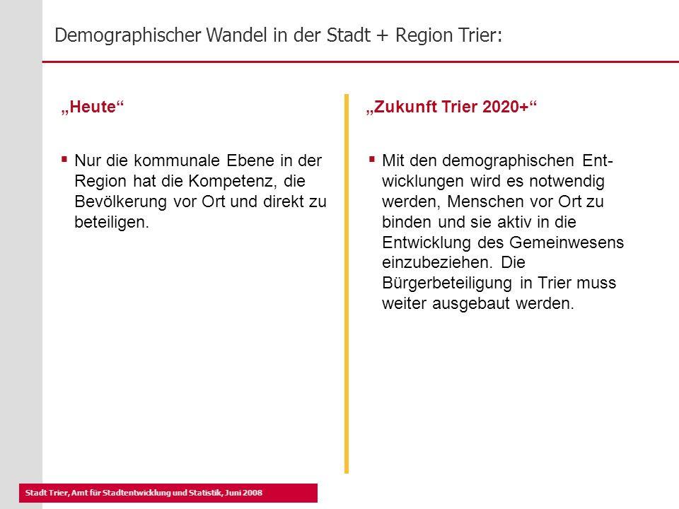 """""""Heute """"Zukunft Trier 2020+"""