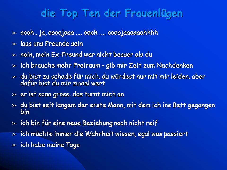 die Top Ten der Frauenlügen