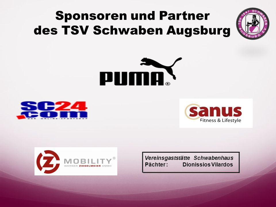 Sponsoren und Partner des TSV Schwaben Augsburg