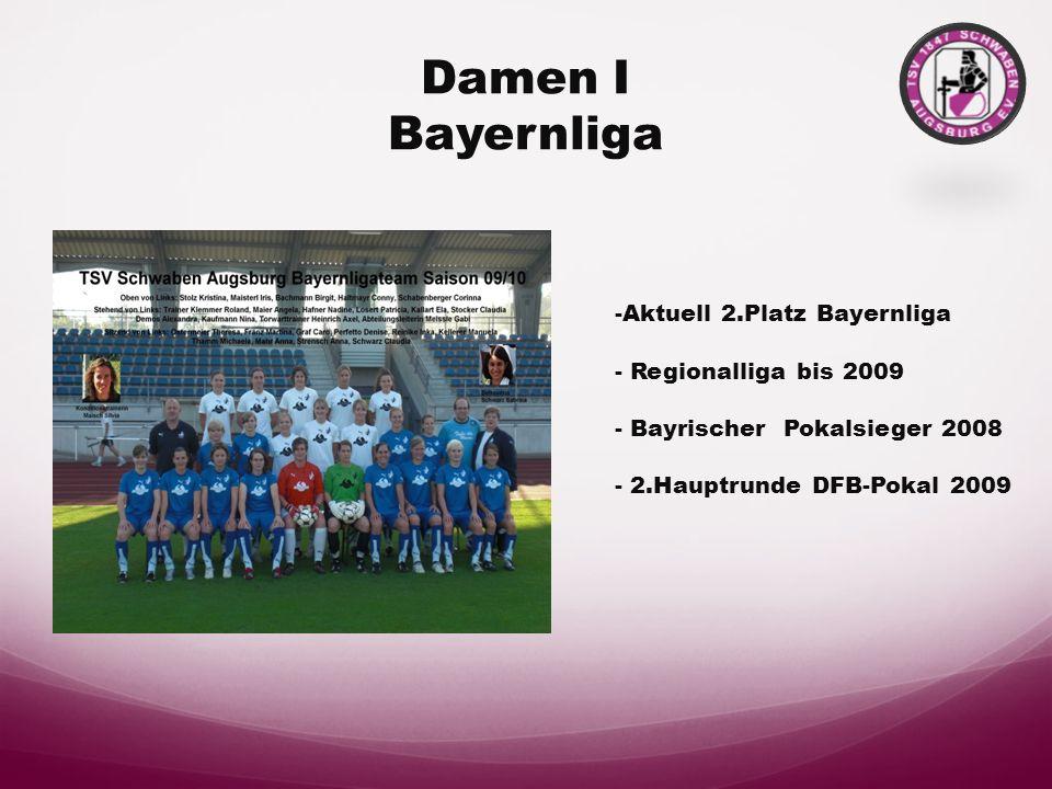 Damen I Bayernliga -Aktuell 2.Platz Bayernliga - Regionalliga bis 2009