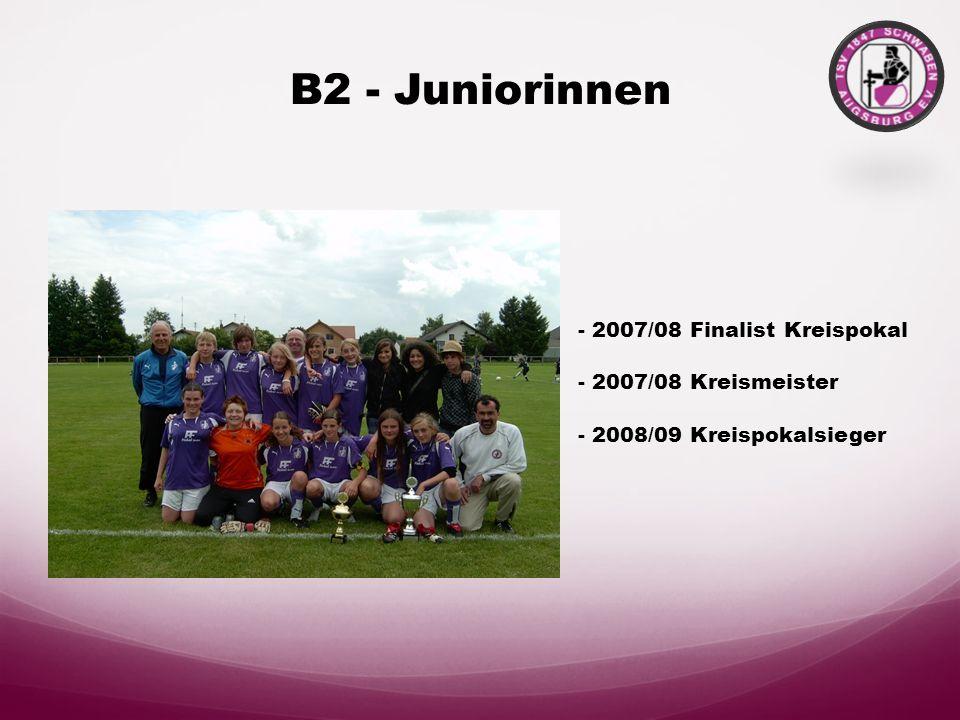B2 - Juniorinnen - 2007/08 Finalist Kreispokal - 2007/08 Kreismeister