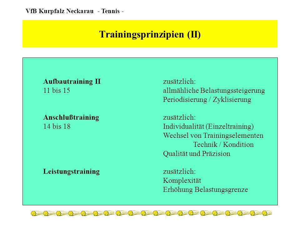 Trainingsprinzipien (II)