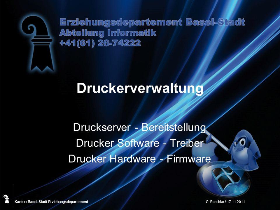 Druckerverwaltung Druckserver - Bereitstellung