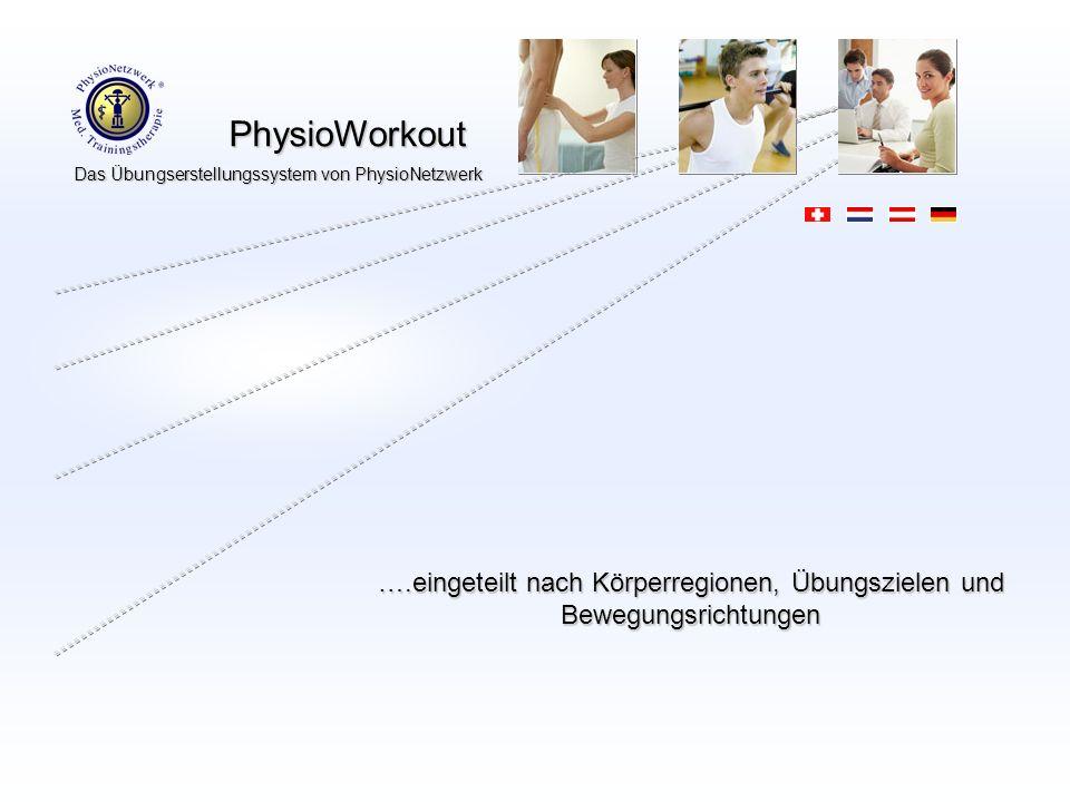 ….eingeteilt nach Körperregionen, Übungszielen und Bewegungsrichtungen