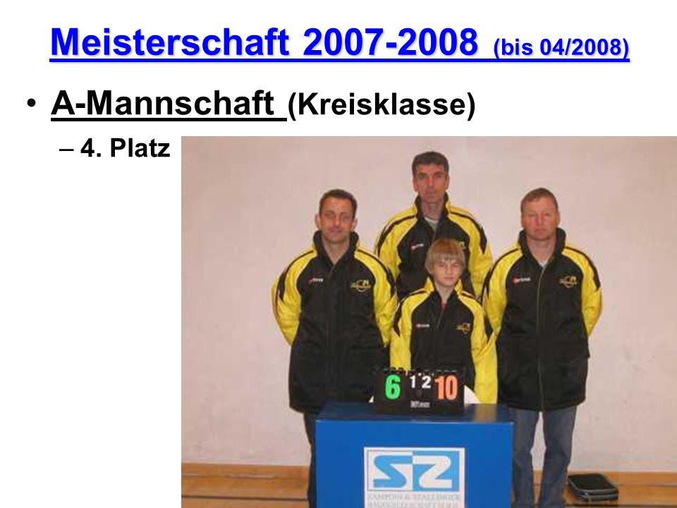 Meisterschaft 2007-2008 (bis 04/2008)