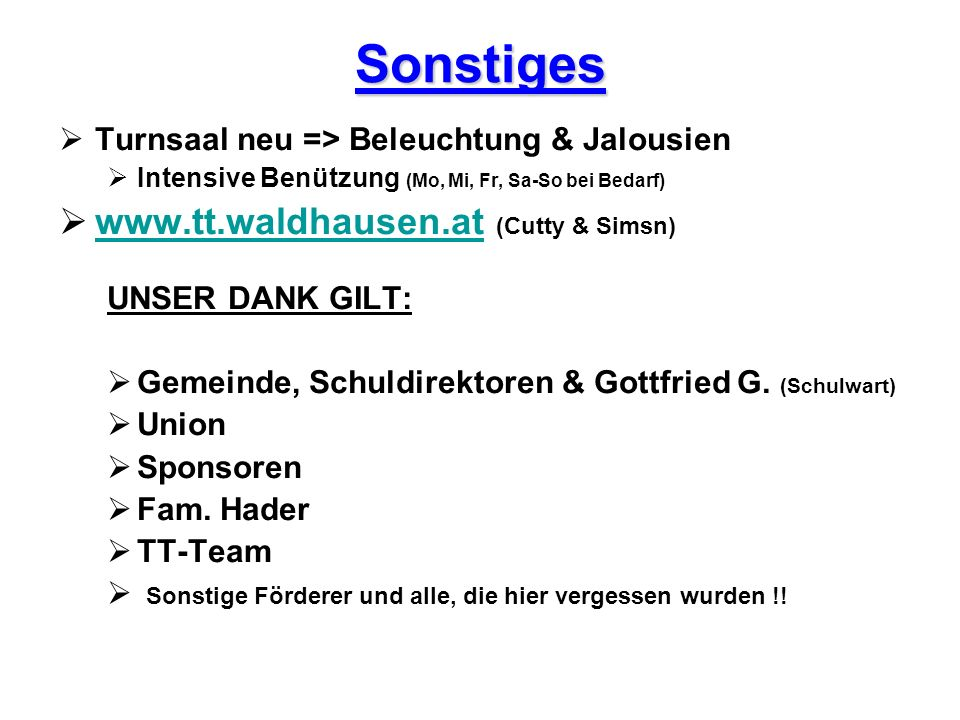 Sonstiges www.tt.waldhausen.at (Cutty & Simsn)