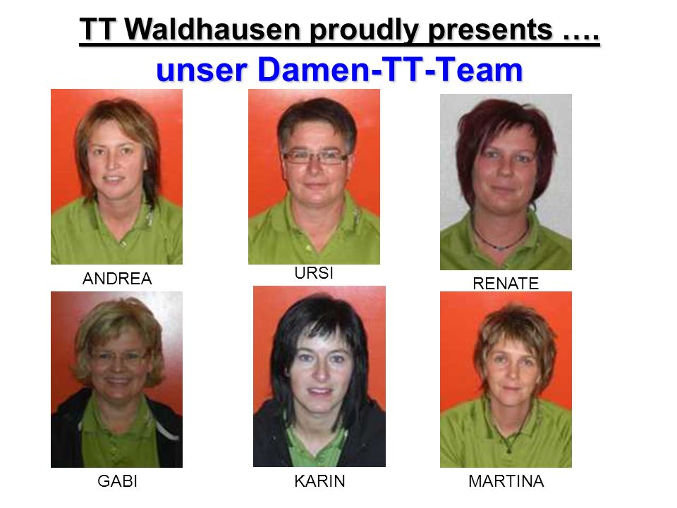 TT Waldhausen proudly presents …. unser Damen-TT-Team