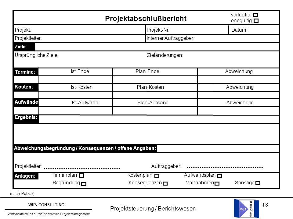 Projektabschlußbericht