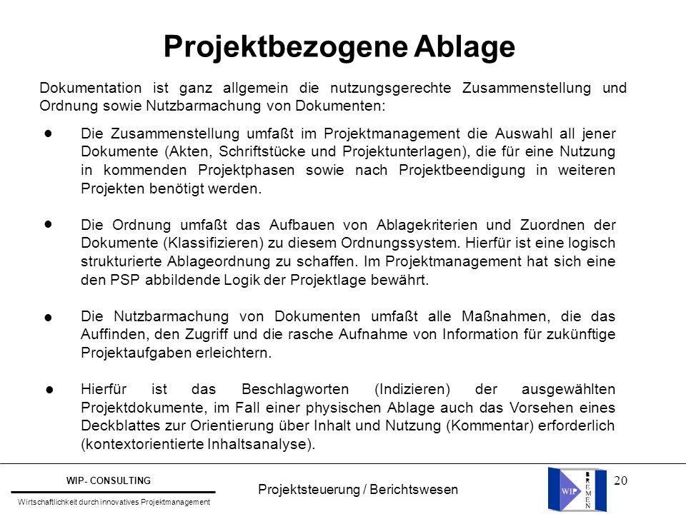 Projektbezogene Ablage