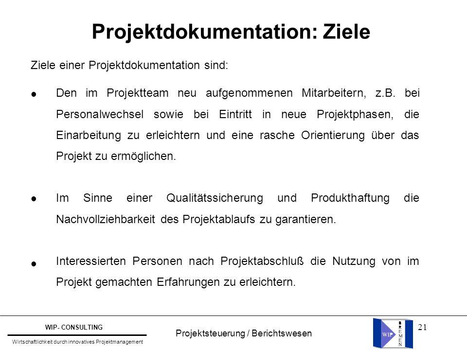 Projektdokumentation: Ziele