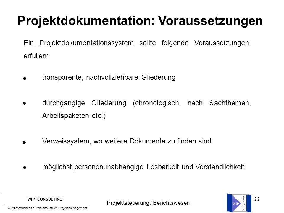 Projektdokumentation: Voraussetzungen