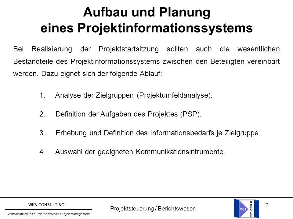 eines Projektinformationssystems