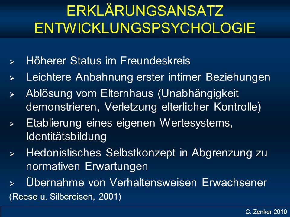 ERKLÄRUNGSANSATZ ENTWICKLUNGSPSYCHOLOGIE