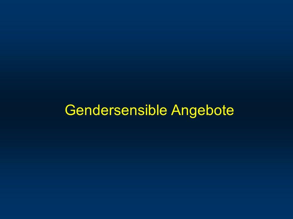 Gendersensible Angebote