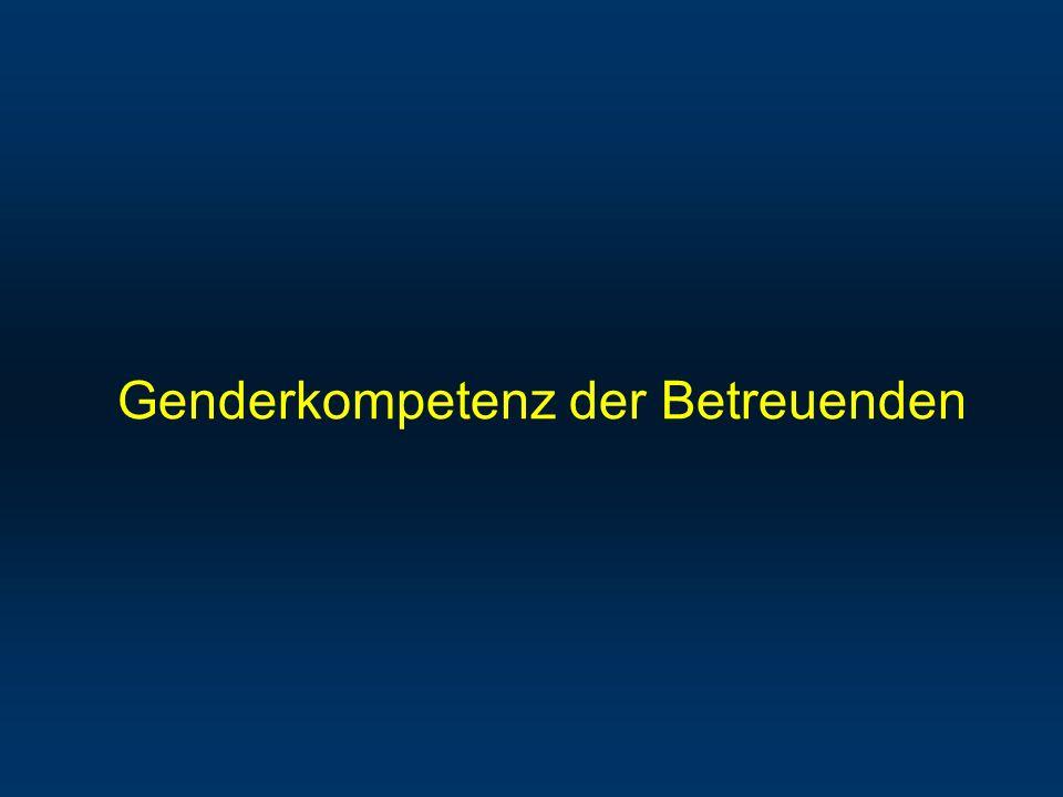 Genderkompetenz der Betreuenden
