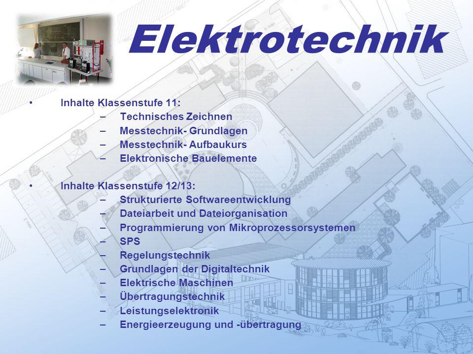 Elektrotechnik Inhalte Klassenstufe 11: Technisches Zeichnen