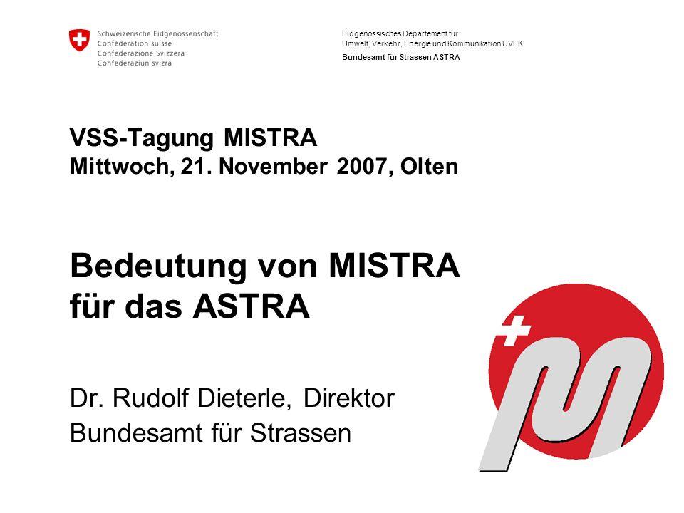 Dr. Rudolf Dieterle, Direktor Bundesamt für Strassen