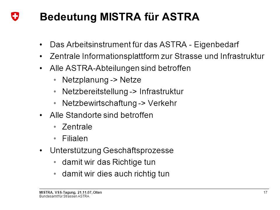 Bedeutung MISTRA für ASTRA
