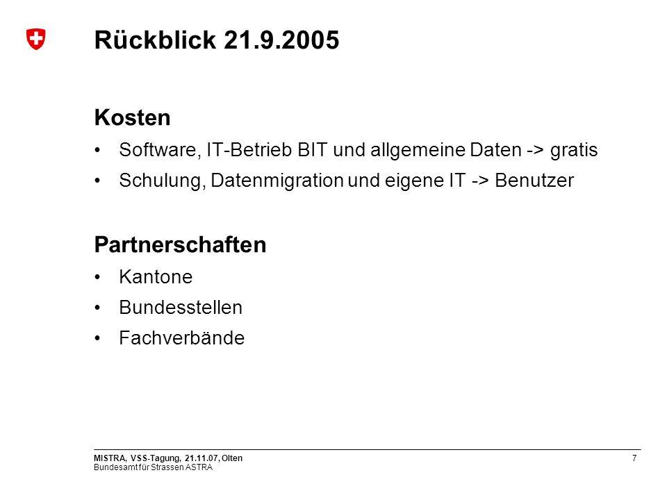Rückblick 21.9.2005 Kosten Partnerschaften
