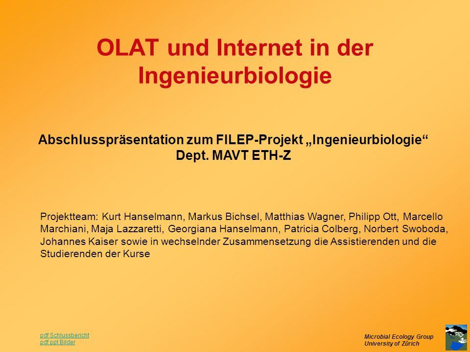 OLAT und Internet in der Ingenieurbiologie