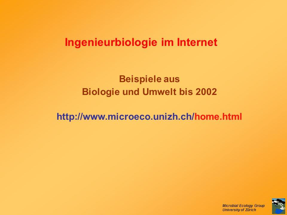Ingenieurbiologie im Internet