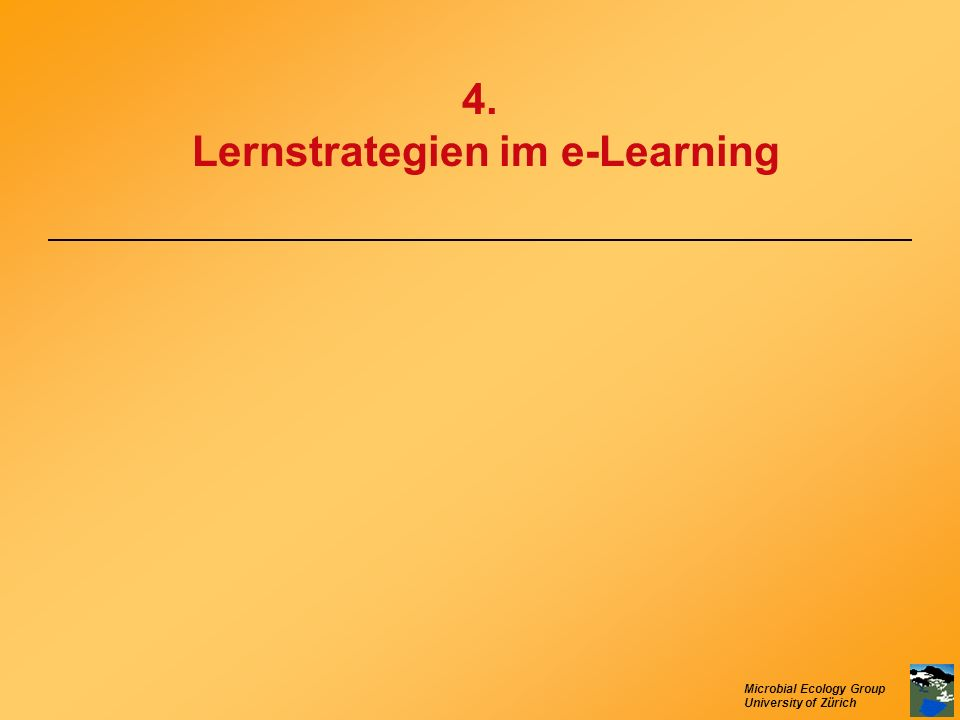 4. Lernstrategien im e-Learning