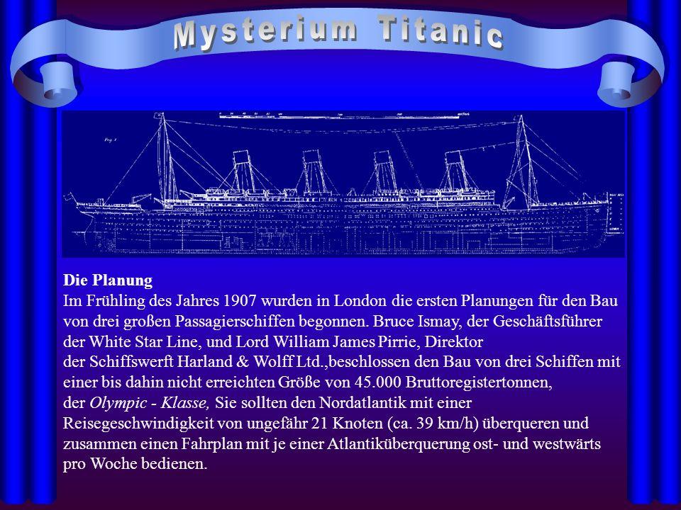 Mysterium Titanic Die Planung