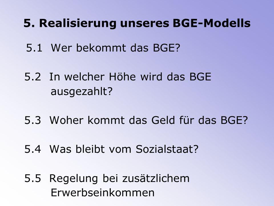 5. Realisierung unseres BGE-Modells