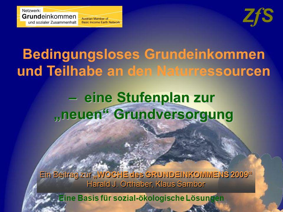 ZfS Bedingungsloses Grundeinkommen und Teilhabe an den Naturressourcen