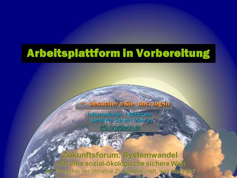 Zukunftsforum: Systemwandel - für eine sozial-ökologische sichere Welt