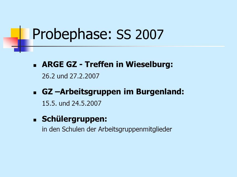 Probephase: SS 2007 ARGE GZ - Treffen in Wieselburg: