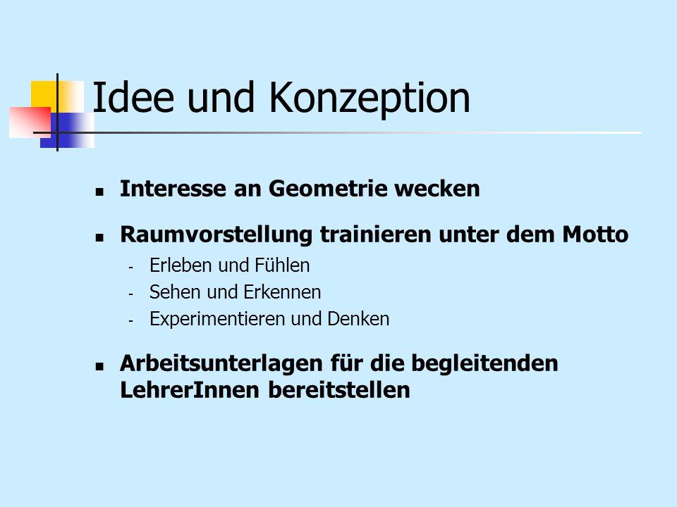 Idee und Konzeption Interesse an Geometrie wecken