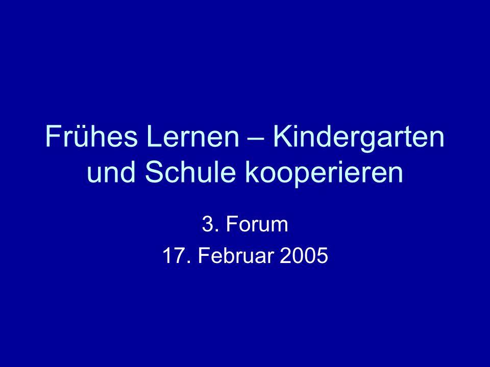 Frühes Lernen – Kindergarten und Schule kooperieren