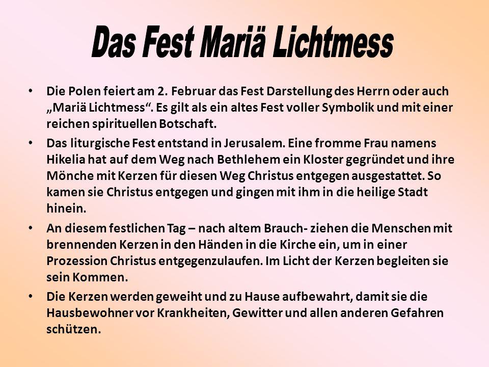 Das Fest Mariä Lichtmess