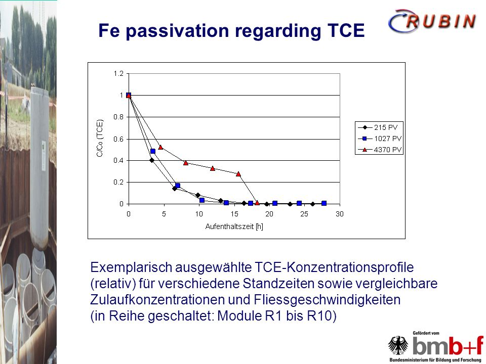 Fe passivation regarding TCE