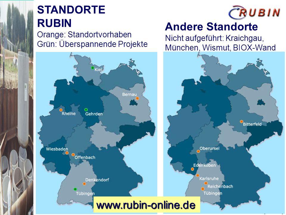 STANDORTE RUBIN Andere Standorte www.rubin-online.de