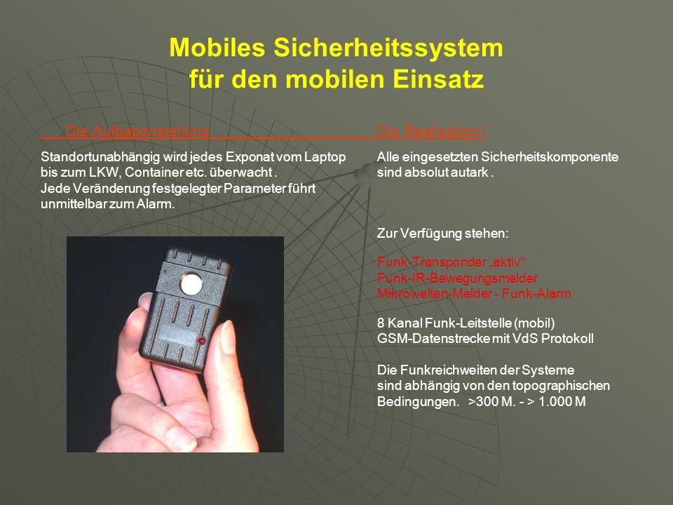 Mobiles Sicherheitssystem für den mobilen Einsatz