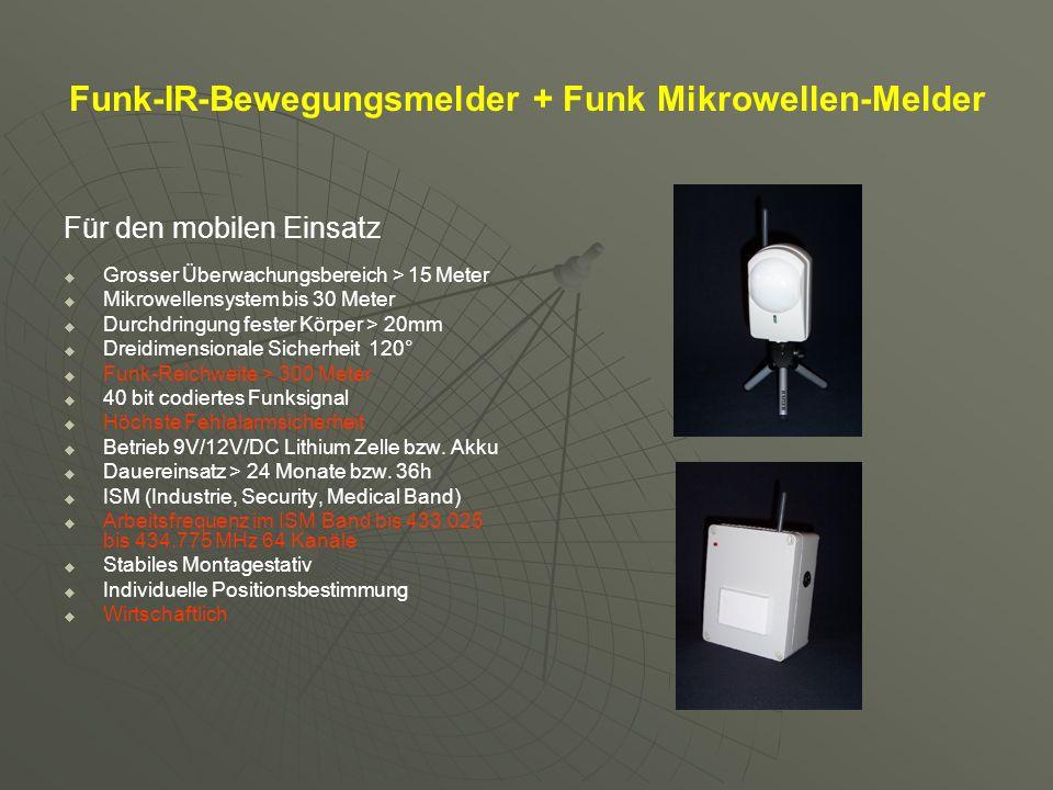 Funk-IR-Bewegungsmelder + Funk Mikrowellen-Melder