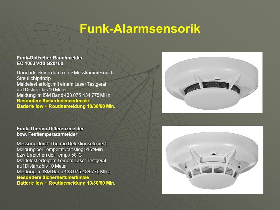 Funk-Alarmsensorik Funk-Optischer Rauchmelder EC 1003 VdS G20160