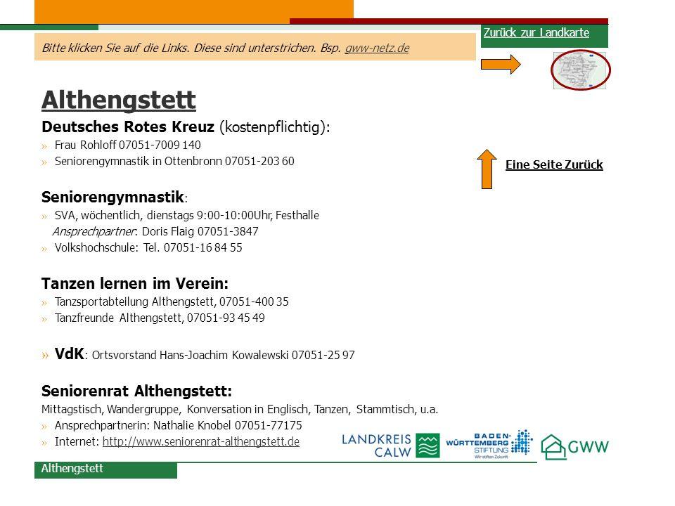 Althengstett Deutsches Rotes Kreuz (kostenpflichtig):