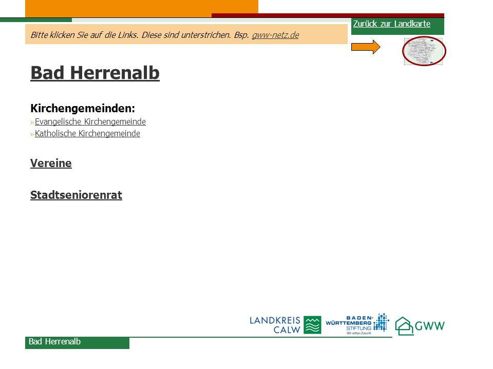 Bad Herrenalb Kirchengemeinden: Vereine Stadtseniorenrat
