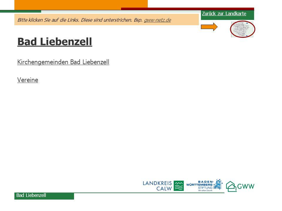 Bad Liebenzell Kirchengemeinden Bad Liebenzell Vereine