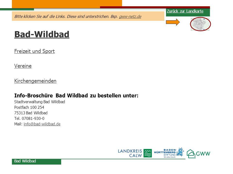 Bad-Wildbad Freizeit und Sport Vereine Kirchengemeinden