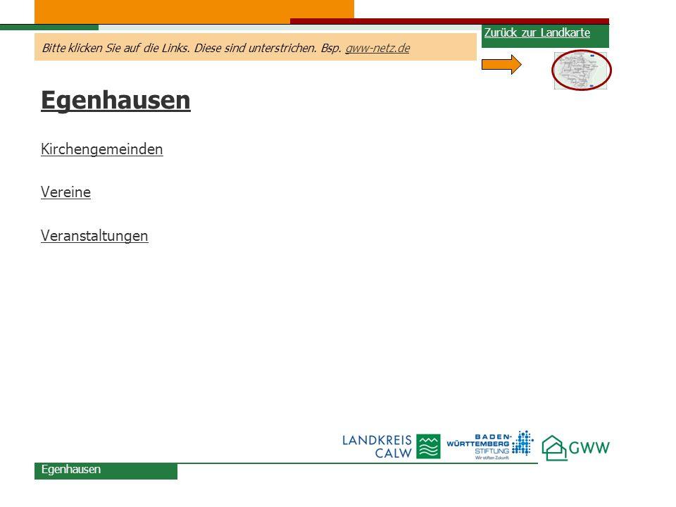 Egenhausen Kirchengemeinden Vereine Veranstaltungen