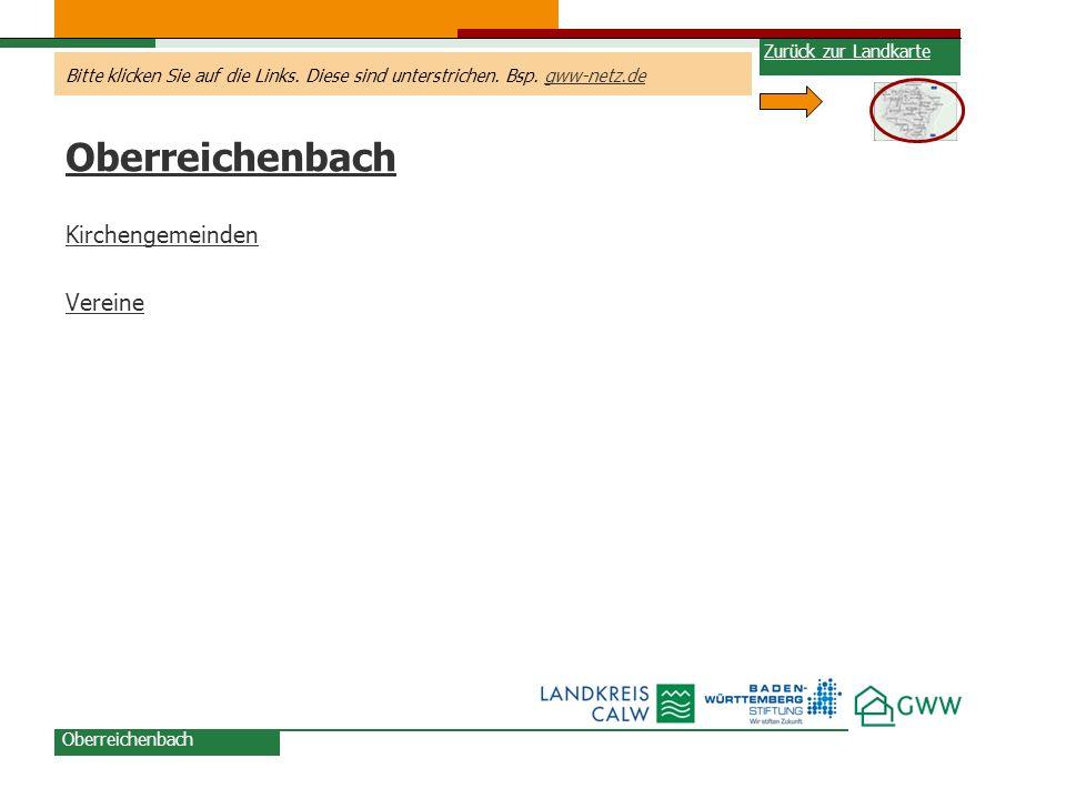 Oberreichenbach Kirchengemeinden Vereine Zurück zur Landkarte