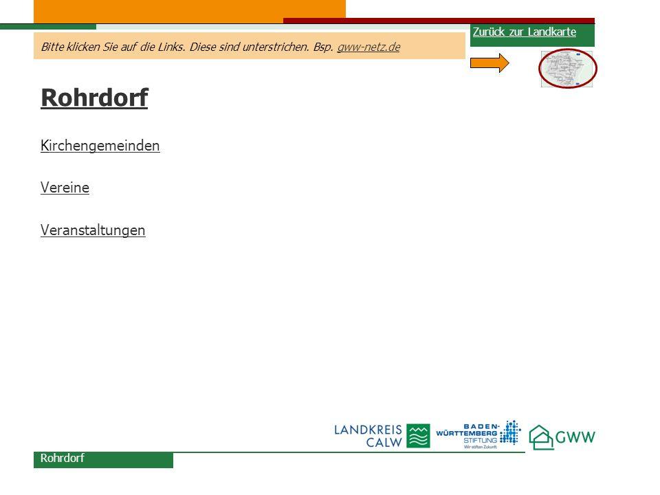 Rohrdorf Kirchengemeinden Vereine Veranstaltungen Zurück zur Landkarte