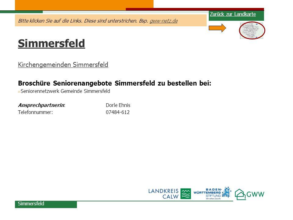 Simmersfeld Kirchengemeinden Simmersfeld